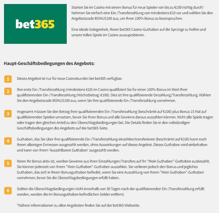 bet365 casino bonus ohne einzahlung