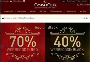 Casino Club Werbecode